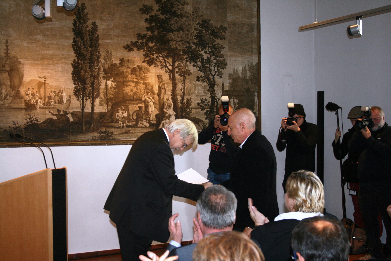 Festakt anlässlich der Restitution von Objekten aus der Sammlung Max Rahphael und Gertrud Hahn im Städtischen Museum Göttingen (8. November 2014)